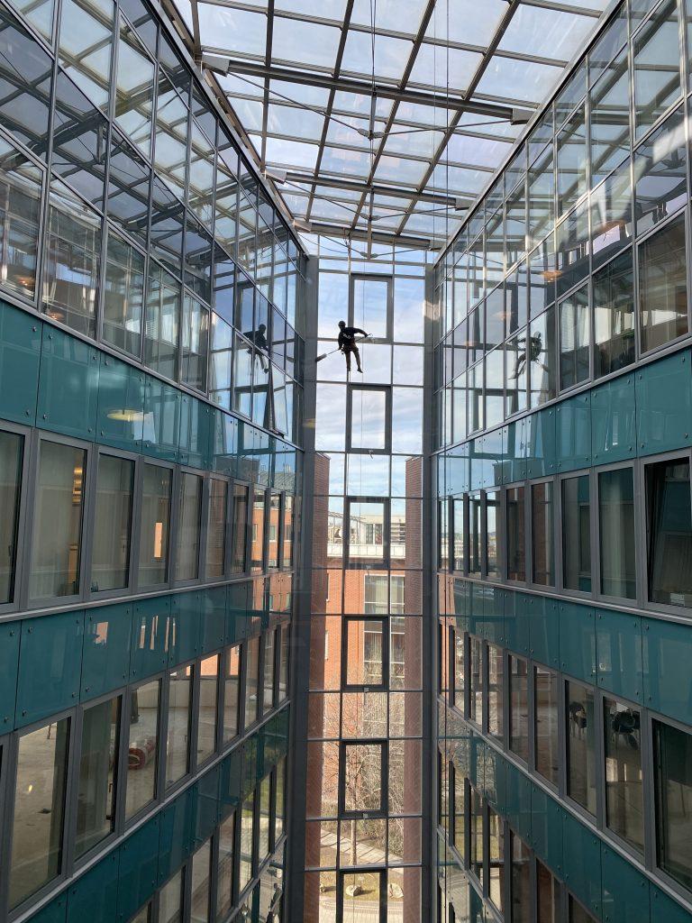 Pókhálómentesítés - Infopark épület