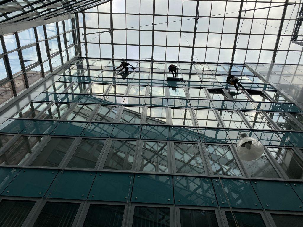 Infopark épület mosás