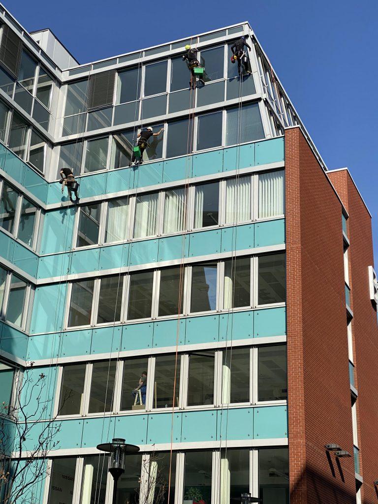 Infopark épület mosása